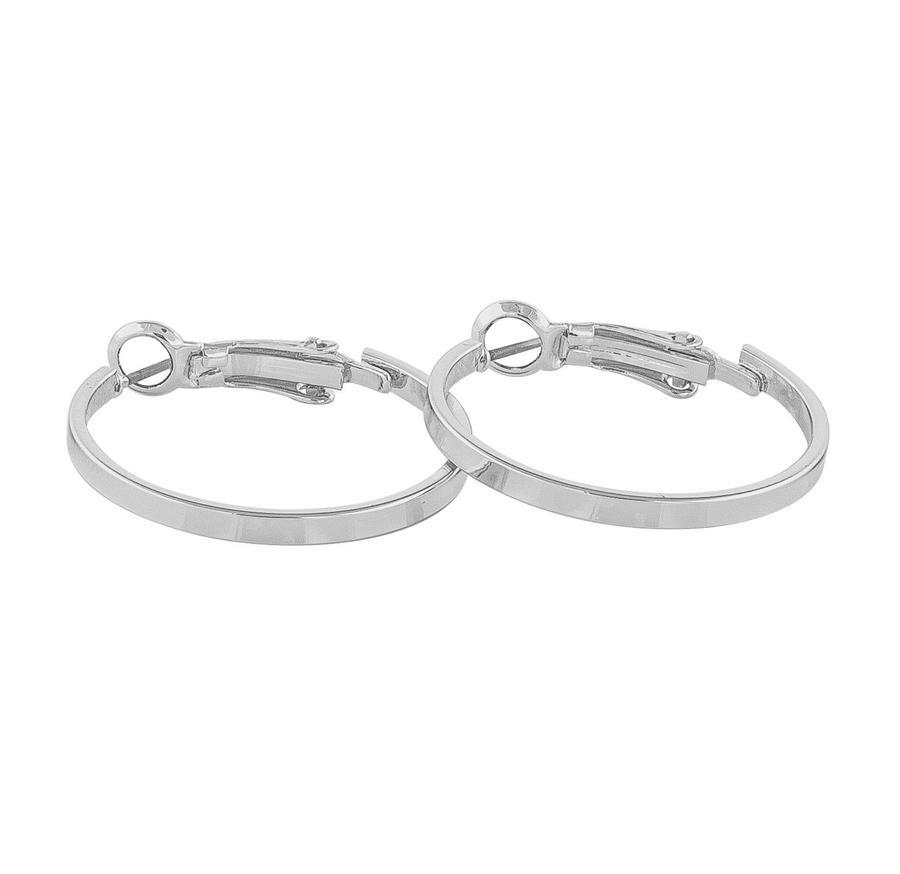 Snö Of Sweden Moe Ring Earring, Plain Silver (25 mm)