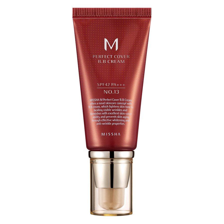 Missha M Perfect Cover BB Cream LSF42/PA +++, No. 13 Bright Beige (50 ml)
