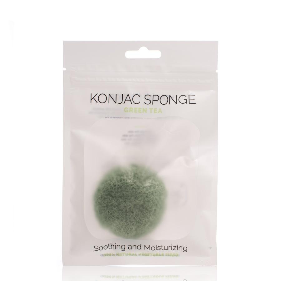 Shelas Konjac Sponge Schwamm Modell: Green Tea