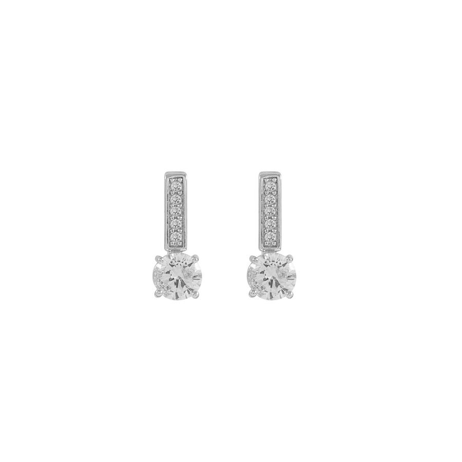 Snö Of Sweden Elaine Small Earring, Silver/Clear