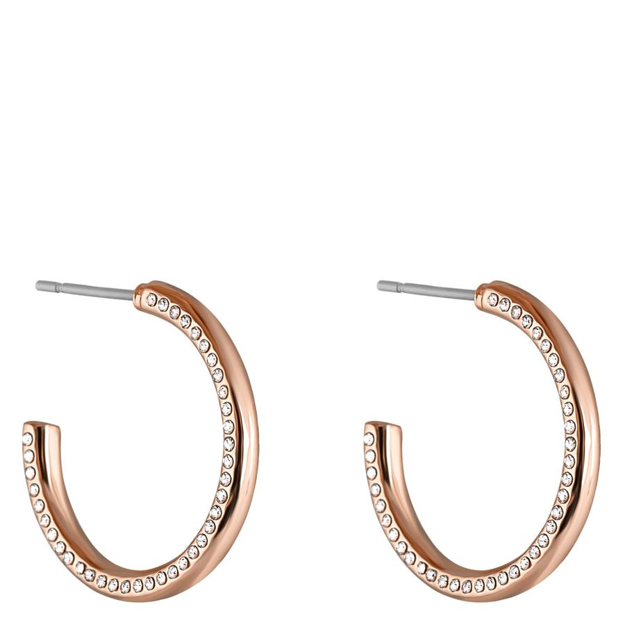 Snö of Sweden Adara Oval Earrings, Rosé/Clear