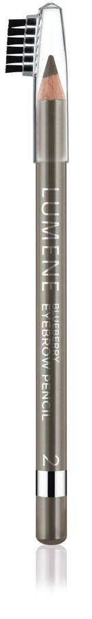 Lumene Blueberry Eyebrow Pencil Augenbrauenstift, 2 Graubraun (1,1 g)