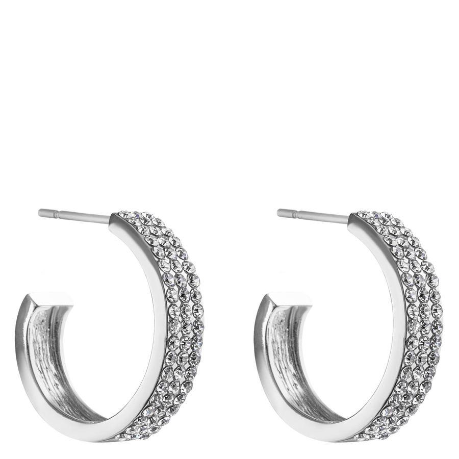 Snö of Sweden Carrie Earrings, Silver/Clear