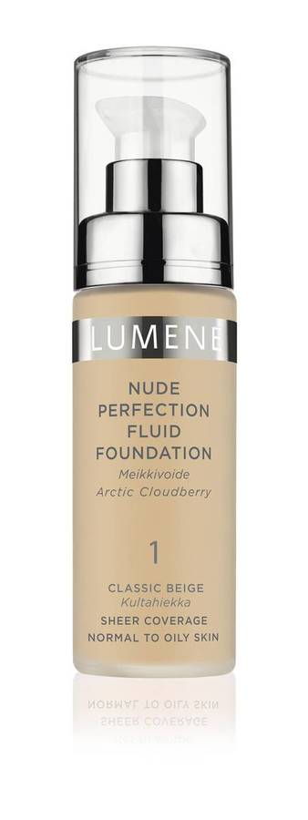 Lumene Nude Perfection Fluid Foundation 1 Classic Beige 30ml