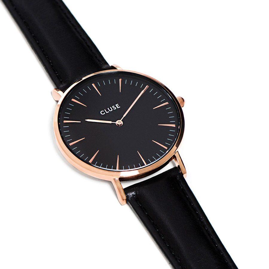 CLUSE La Bohème Black Rose Gold CL18001