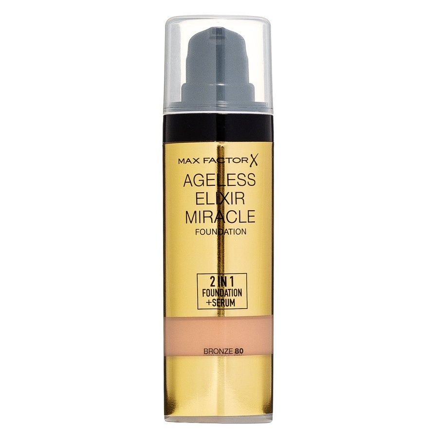 Max Factor Ageless Elixir 2-in-1 Foundation + Serum, Bronze 080