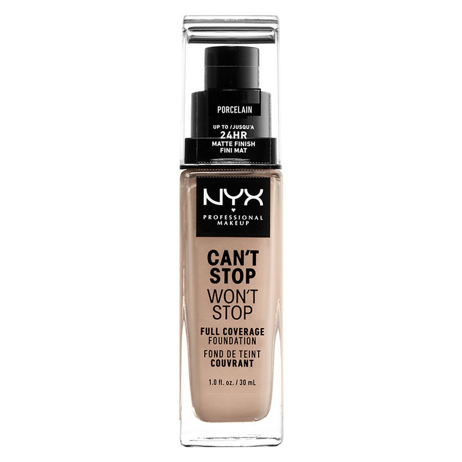 NYX Can't Stop Won't Stop Full Coverage Foundation 30ml, Porcelain
