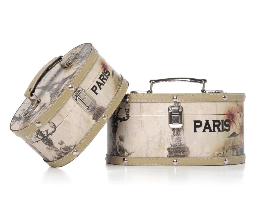 Schmuck- und Kosmetik-Taschen von Shelas im französischen Stil – zwei Taschen in verschiedenen Größen