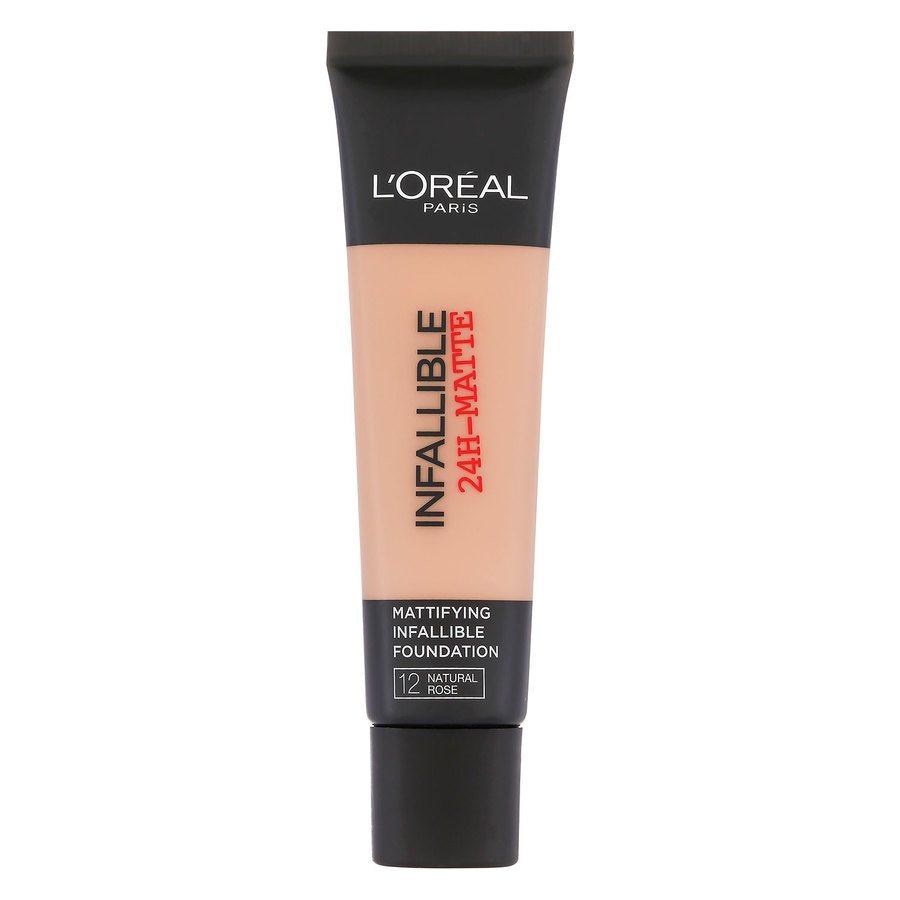L'Oréal Paris Infallible 24 h Matte Foundation, #12 Naturel Rose (35 ml)