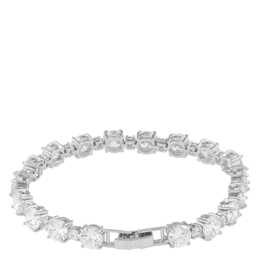Snö Of Sweden Duo Bracelet, Silver/Clear (16-17 cm)