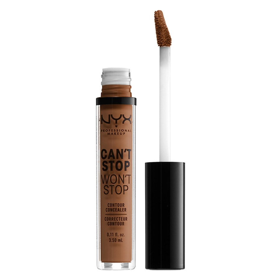 NYX Professional Makeup Can't Stop Won't Stop Contour Concealer (3,5 ml), Brown