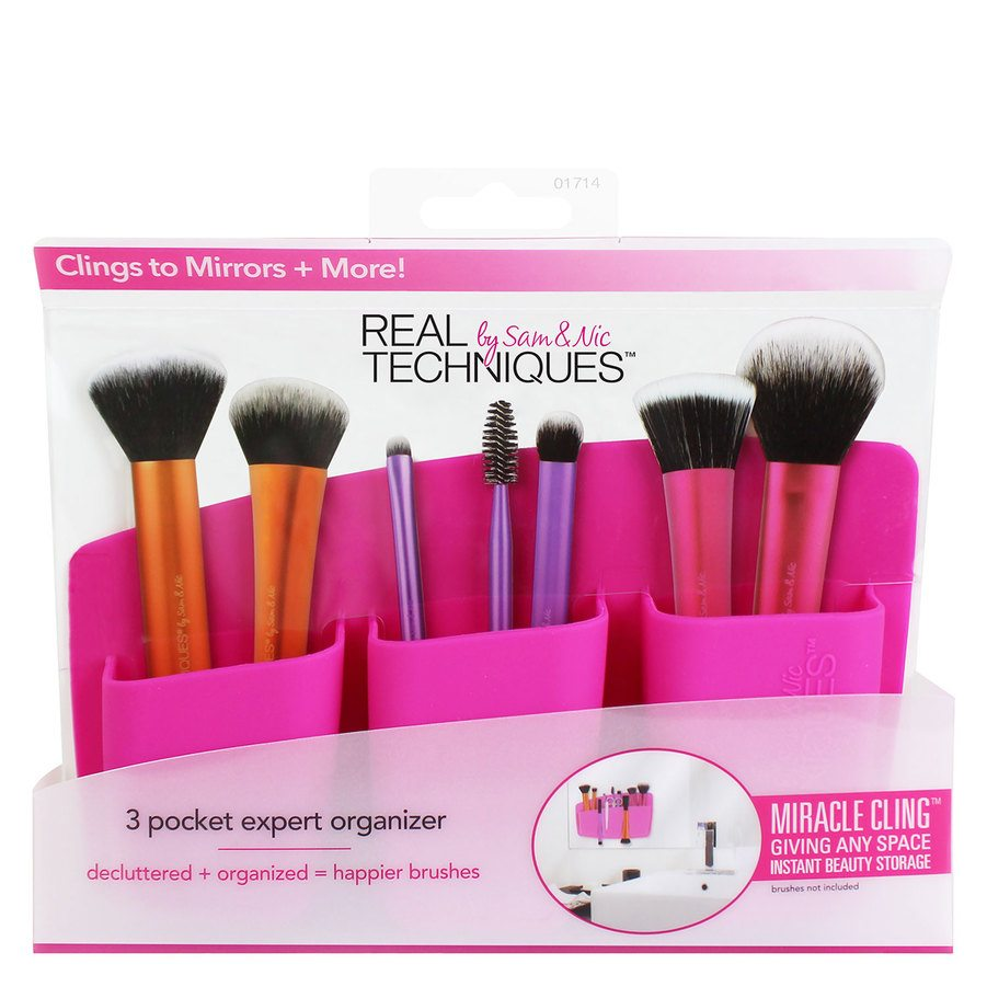 Real Techniques 3 Pocket Expert Organizer Pink
