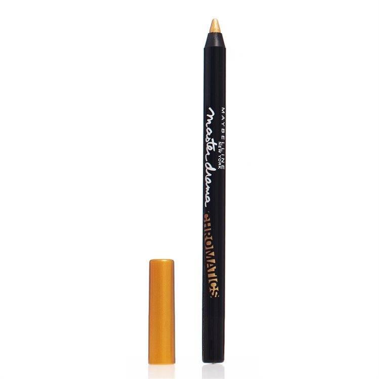 Maybelline Master Drama Chromatics Eyeliner, Vibrant Gold