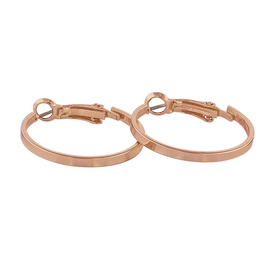 Snö Of Sweden Moe Ring Earring, Plain Rosé (25 mm)