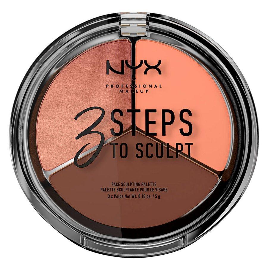 NYX Professional Makeup 3 Steps To Sculpt, Deep (5 g)