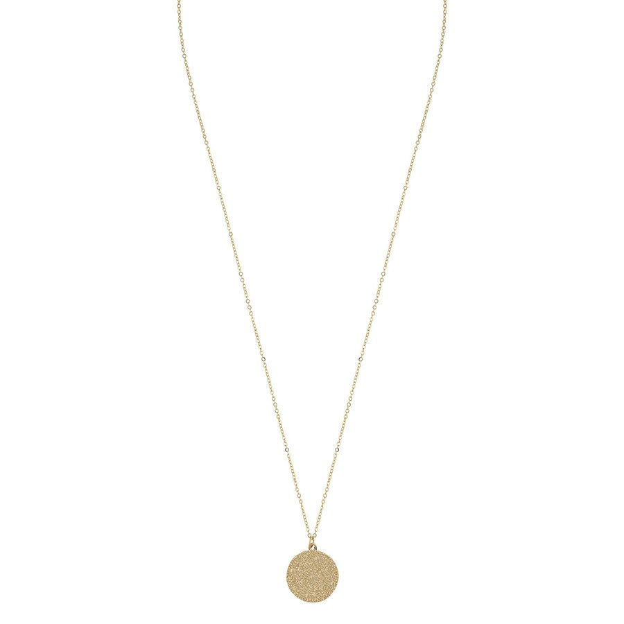 SNÖ of Sweden Penny Coin Pendant Neck Plain Gold 60cm