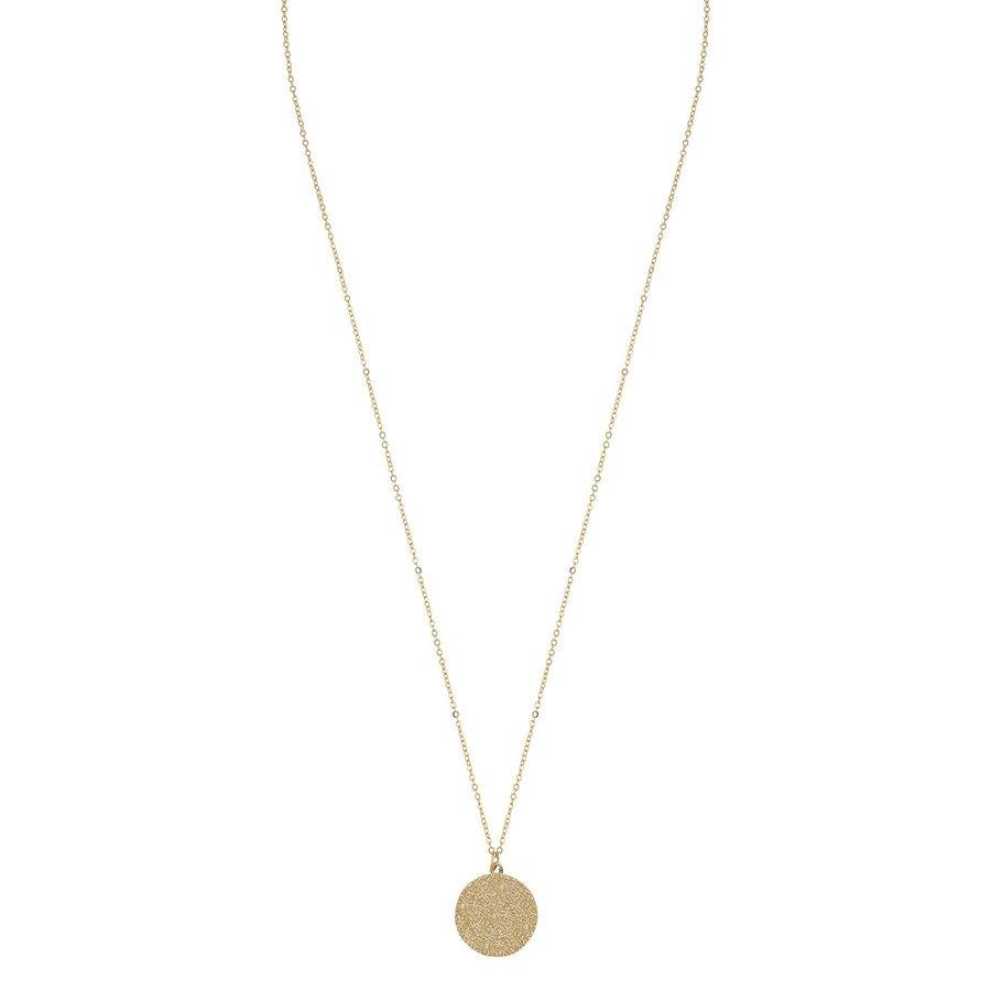 SNÖ of Sweden Penny Coin Pendant Neck Plain Gold 60cm