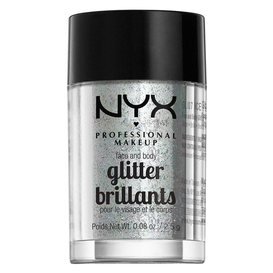 NYX Professional Makeup Face And Body Glitter, Ice GLI07