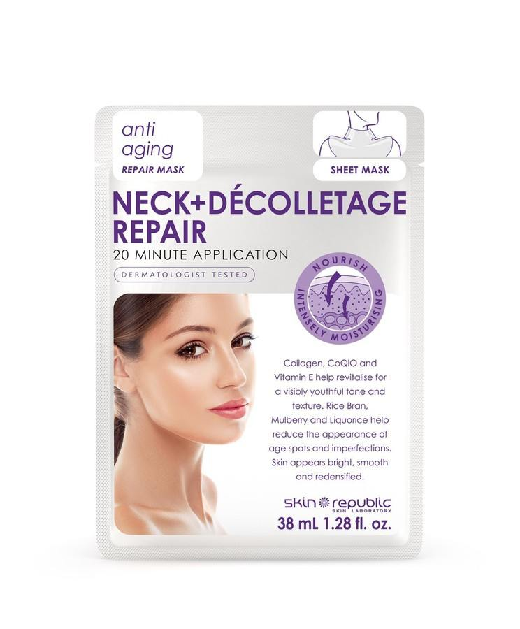Skin Republic Neck + Décolletage Repair Anti-Ageing Repair Mask (38 ml)