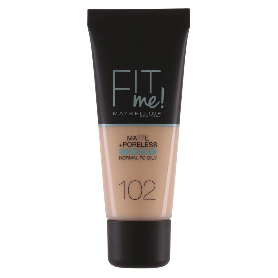 Maybelline Fit Me Makeup Matte + Poreless Foundation, 102 (30 ml Tube)