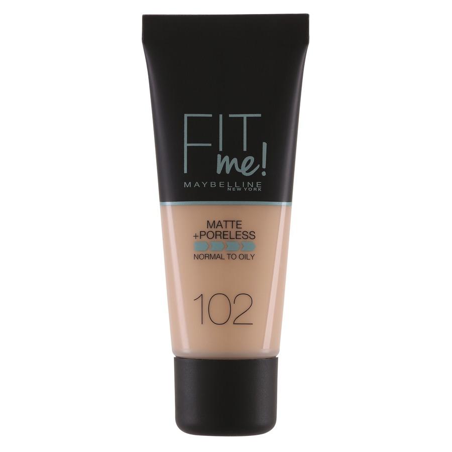 Maybelline Fit Me Makeup Matte + Poreless Foundation, 102 (30 ml Tube)