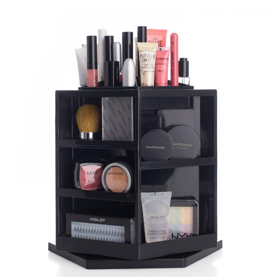 Shelas Versatile Rotating Cosmetic Organizer, Schwarz