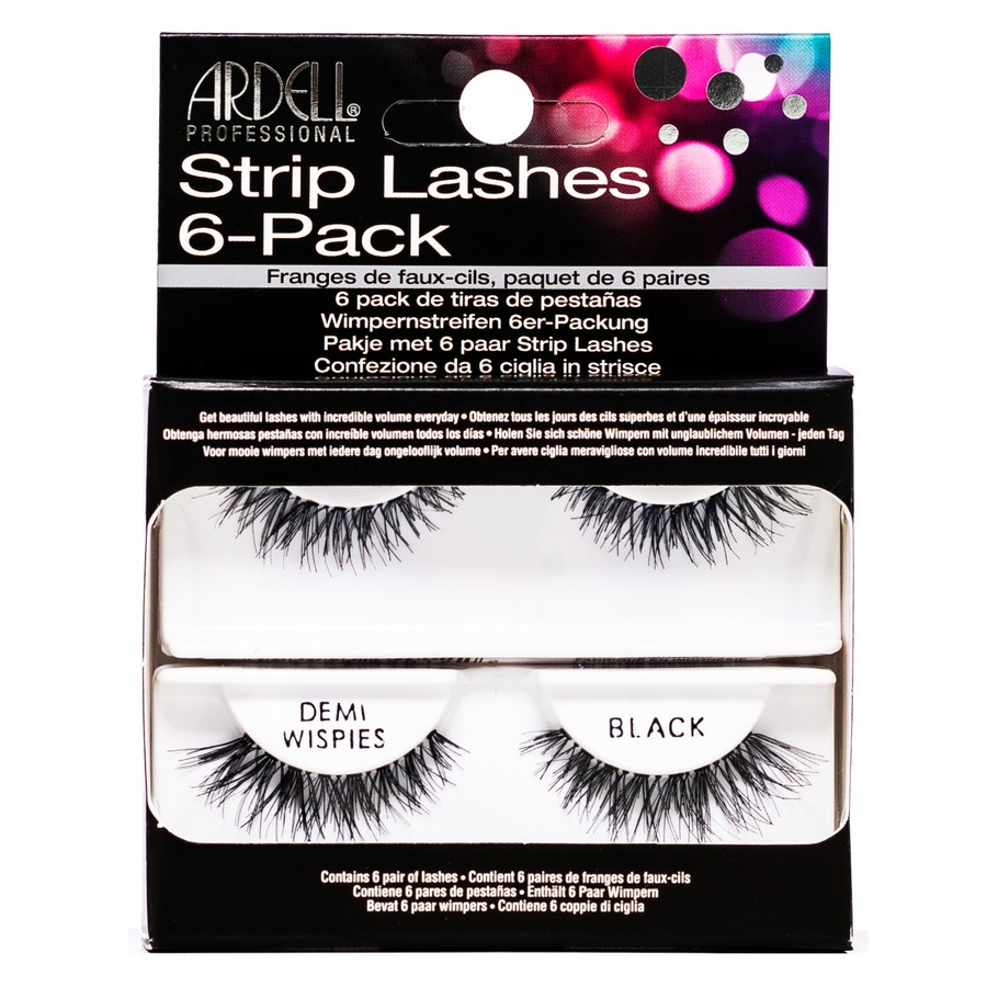Ardell Strip Lashes 6er Pack Demi Wispies, Black (6 pairs)