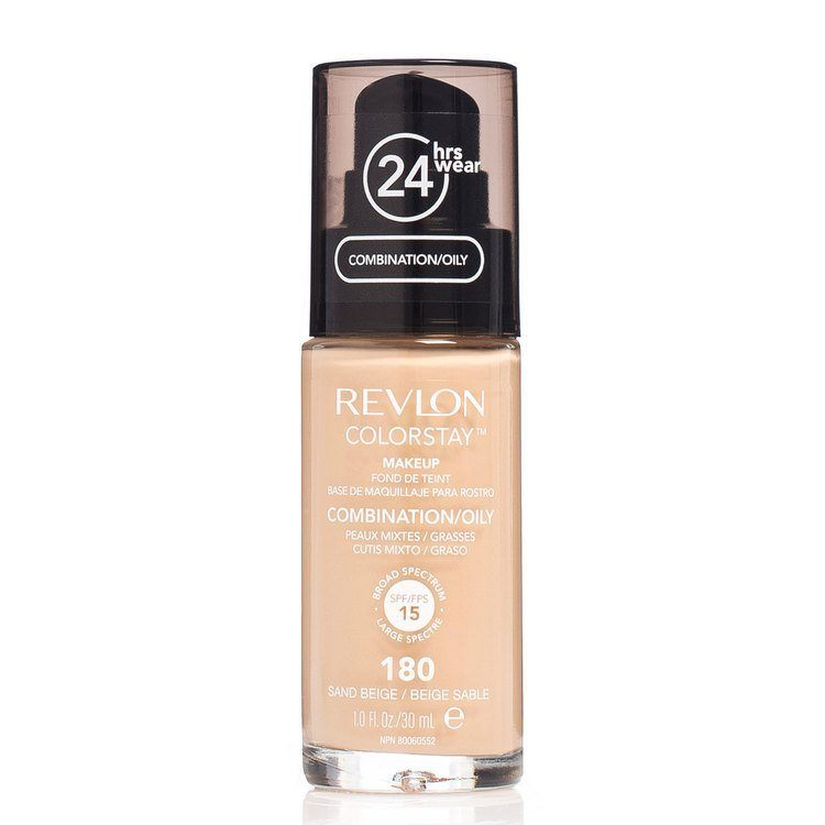 Revlon Colorstay Makeup Combination/Oily Skin, 180 Sand Beige (30ml)