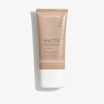 Lumene Matte Foundation, 0 Light Ivory (30 ml)