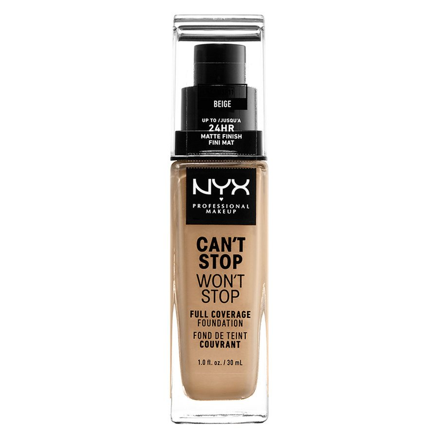 NYX Professional Makeup Can't Stop Won't Stop Full Coverage Foundation (30 ml), Beige