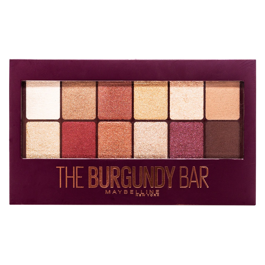 Maybelline The Burgundy Bar Lidschatten-Palette
