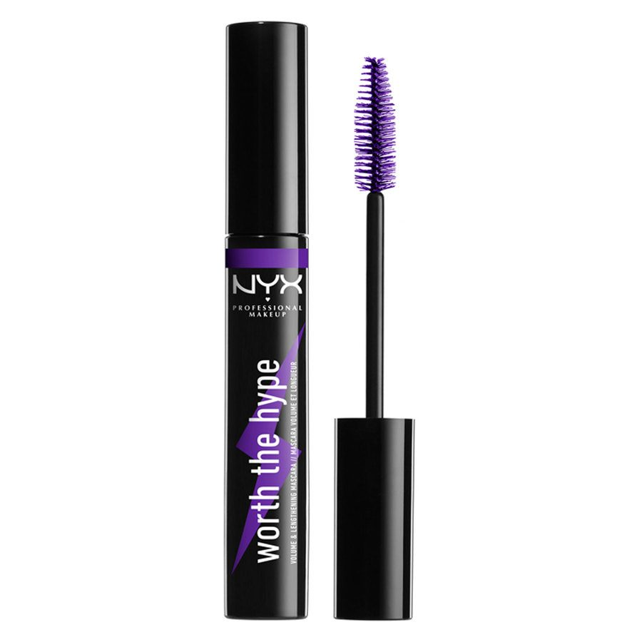 NYX Professional Makeup Worth The Hype Color Mascara, Shade 04 Purple (7 g)