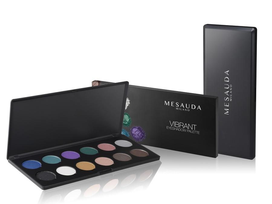 Mesauda Milano Vibrant Eyeshadow Palette Schimmer-Lidschatten (12 x 1,5 g)
