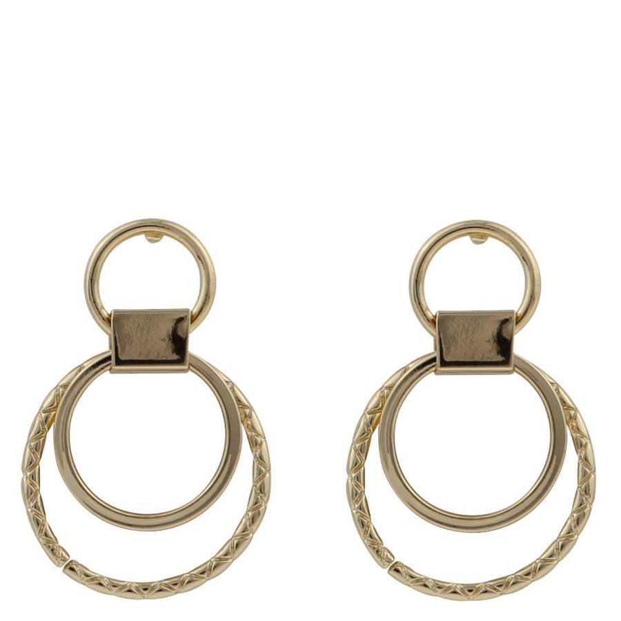 Snö Of Sweden Capella Small Round Earring, Gold