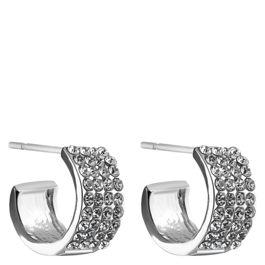 Snö of Sweden Carrie Small Earrings, Silver/Clear