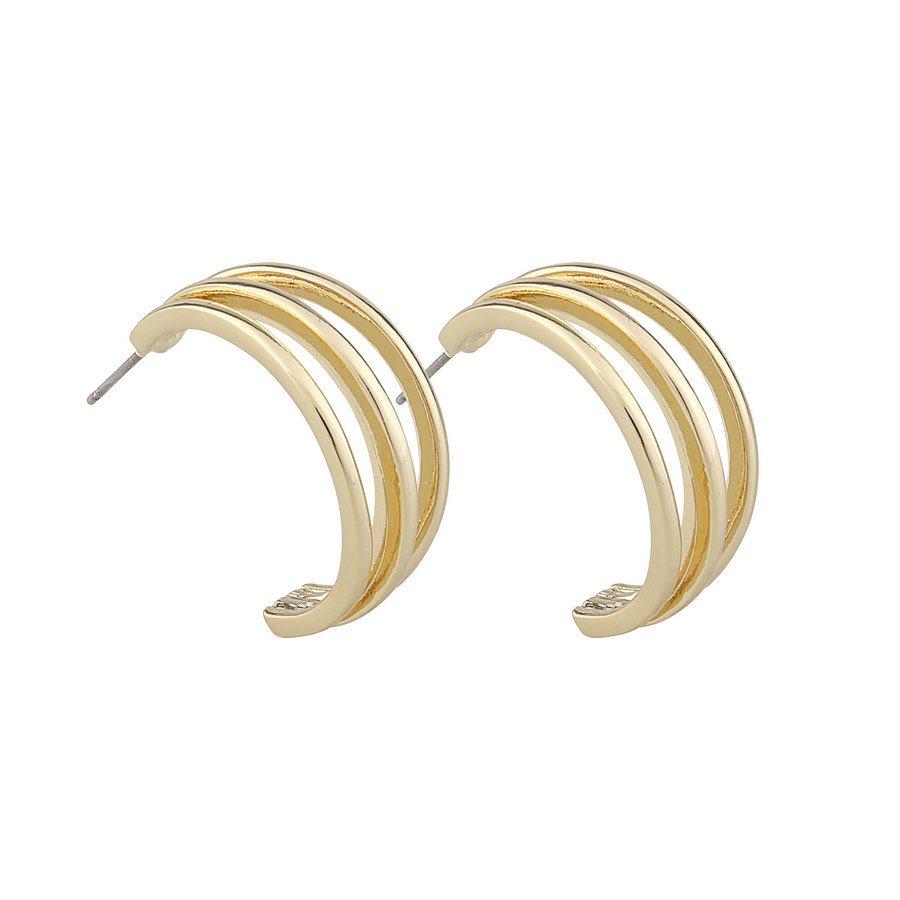 Snö Of Sweden Mette Wide Oval Ear Plain Gold