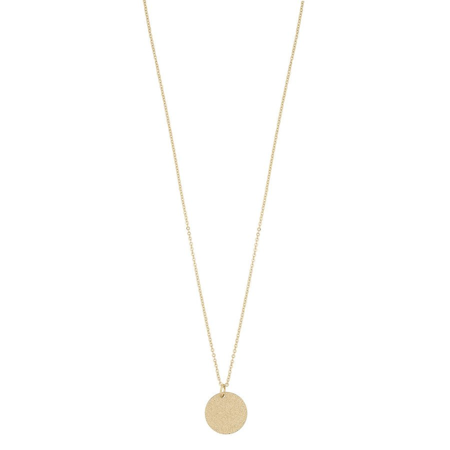 Snö of Sweden Lynx Small Pendant Necklace, Plain Gold (42 cm)