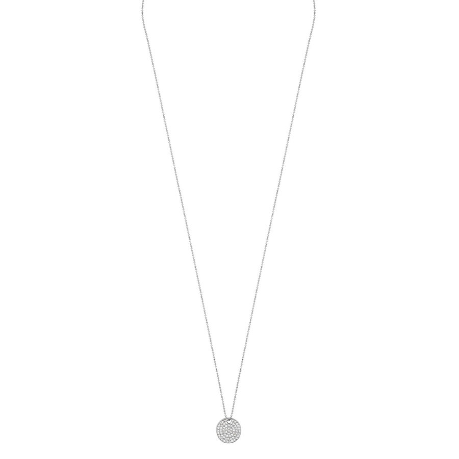 Snö of Sweden Corinne Pendant Necklace, Silver/Clear (60 cm)
