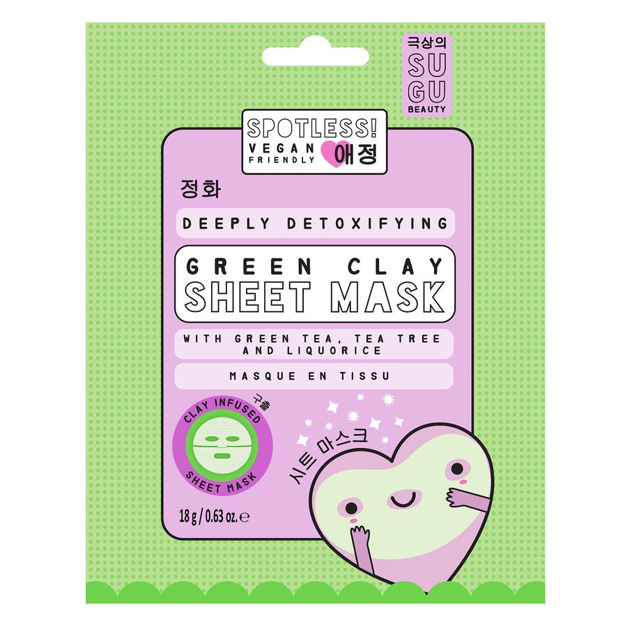 SUGU Spotless Detox Green Clay Sheet Mask