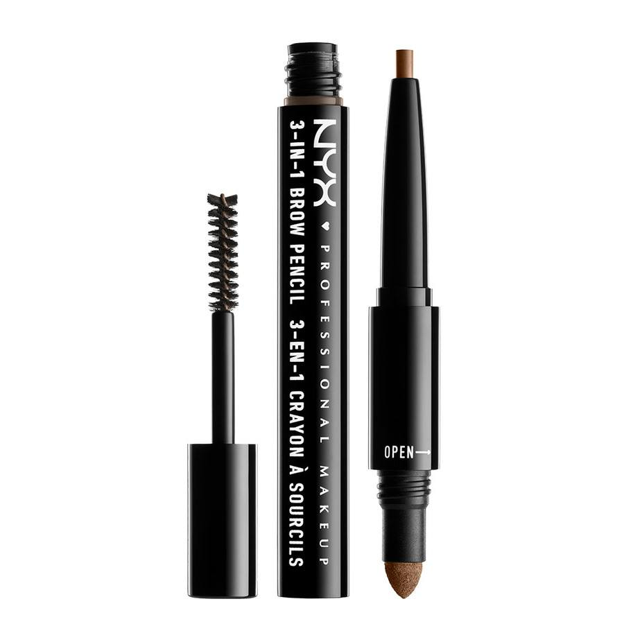 NYX Professional Makeup 3-In-1 Brow, Brunette 31B06