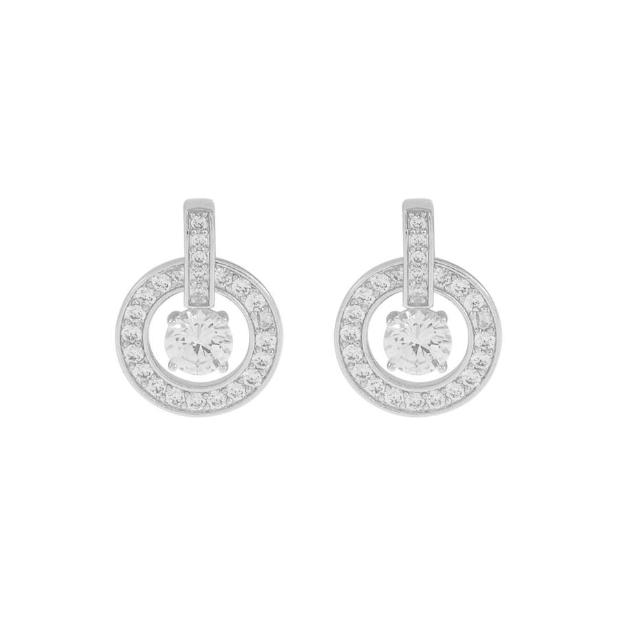 Snö Of Sweden Elaine Earring, Silver/Clear