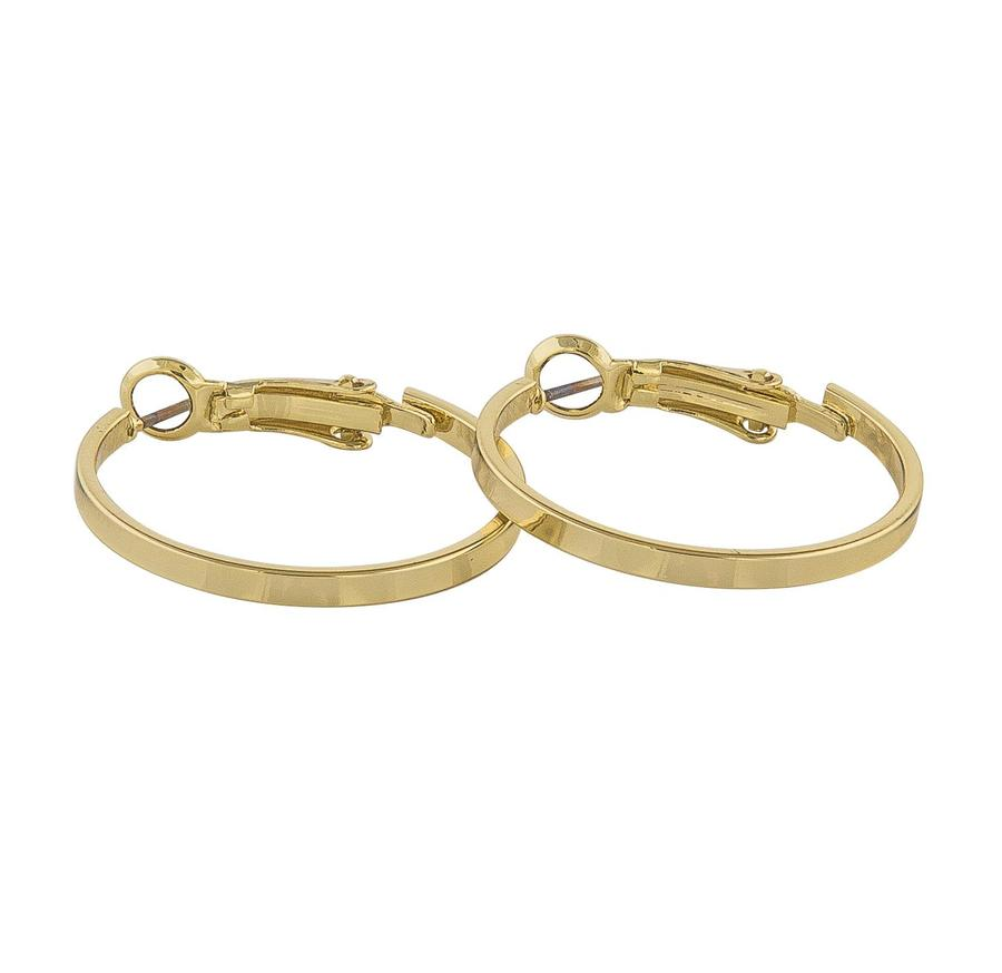 Snö Of Sweden Moe Ring Earring, Plain Gold (25 mm)