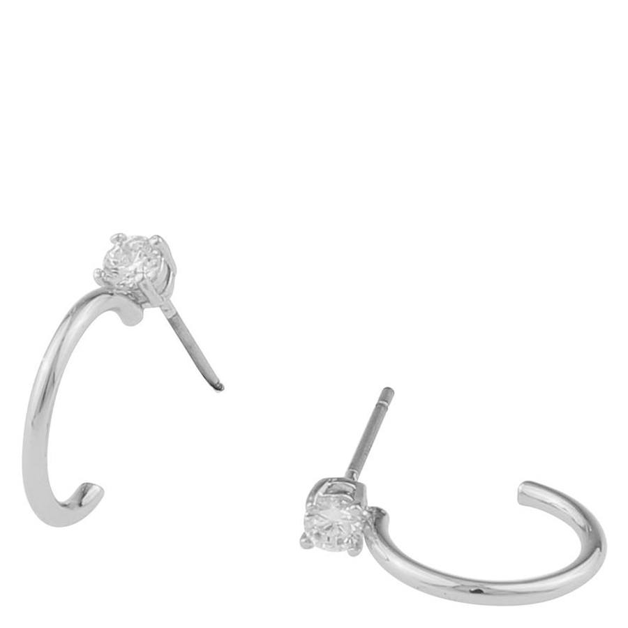 Snö Of Sweden Duo Small Ring Earring, Silver/Clear