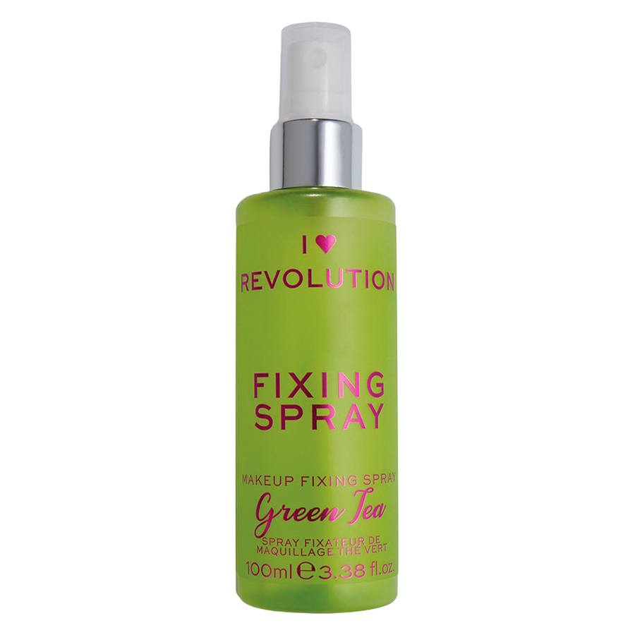 Makeup Revolution I Heart Scented Fixing Spray, Green Tea (100 ml)