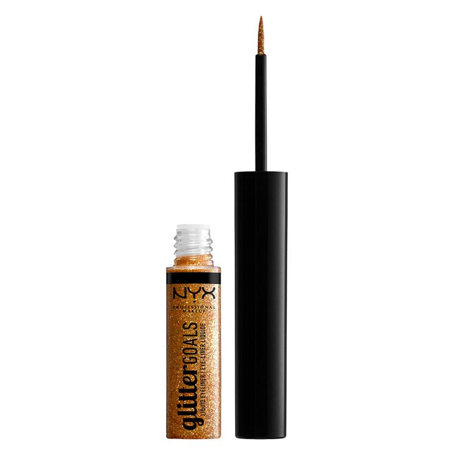 NYX Professional Makeup Glitter Goals Liquid Eyeliner (4ml), Copper