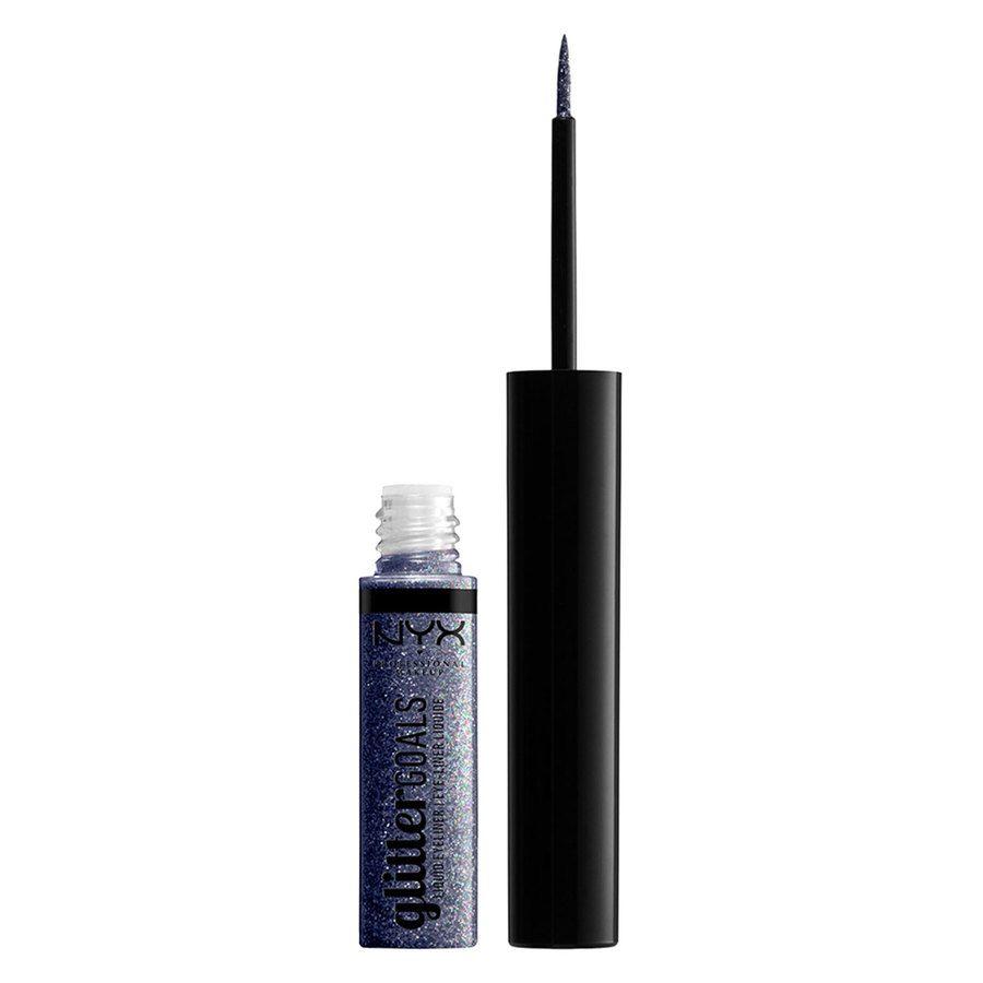 NYX Professional Makeup Glitter Goals Liquid Eyeliner (4ml), Black
