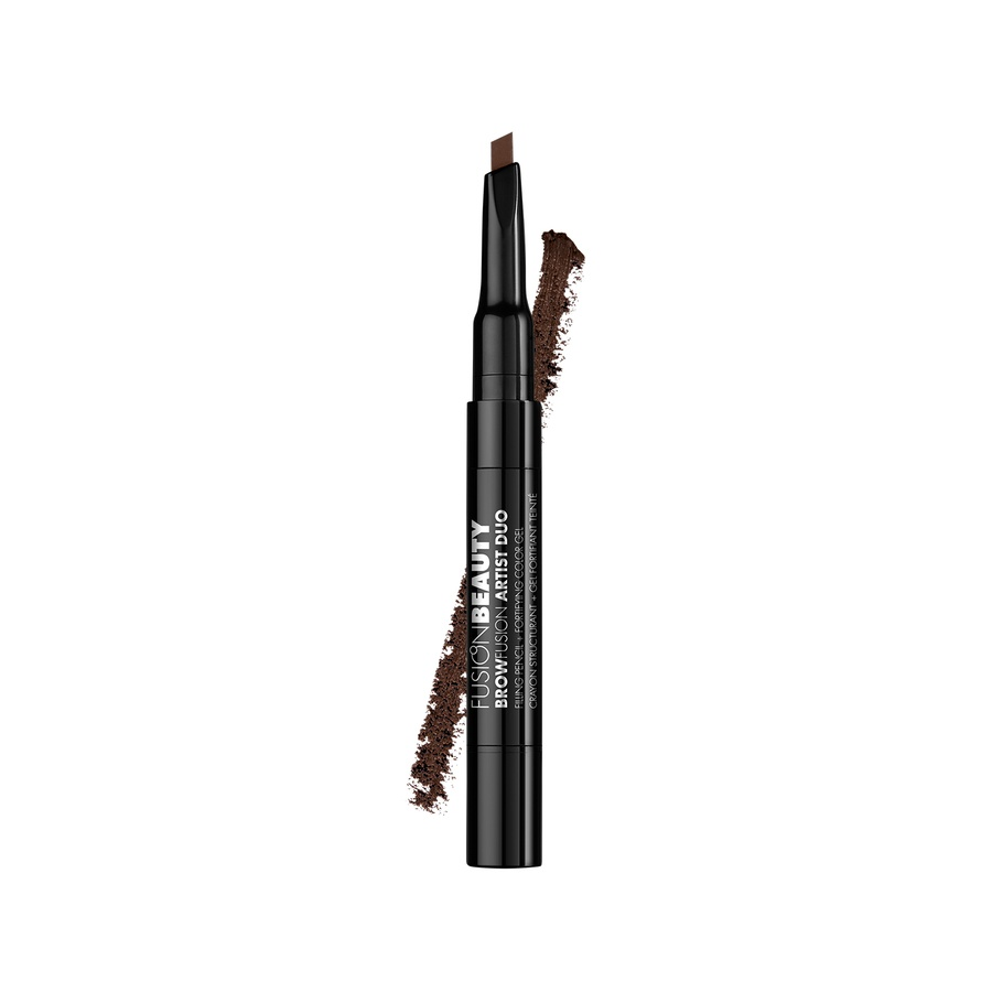 Fusion Beauty BrowFusion Artist Duo Filling Pencil + Color Gel, #Brunette (2,9 g)