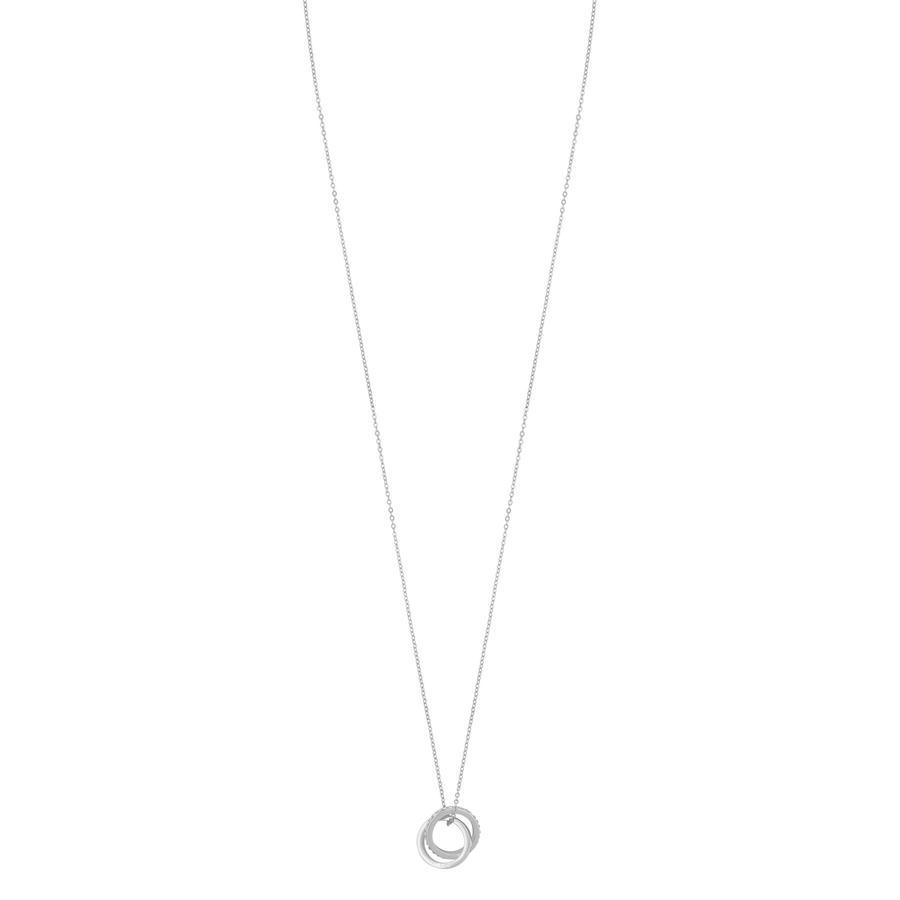 Snö Of Sweden Connected Pendant Necklace, Silver/Clear (80 cm)