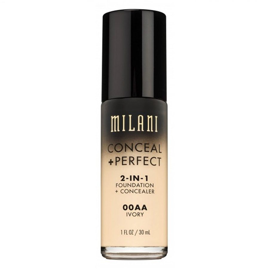 Milani Conceal & Perfect 2 In 1 Foundation + Concealer, Ivory 30ml