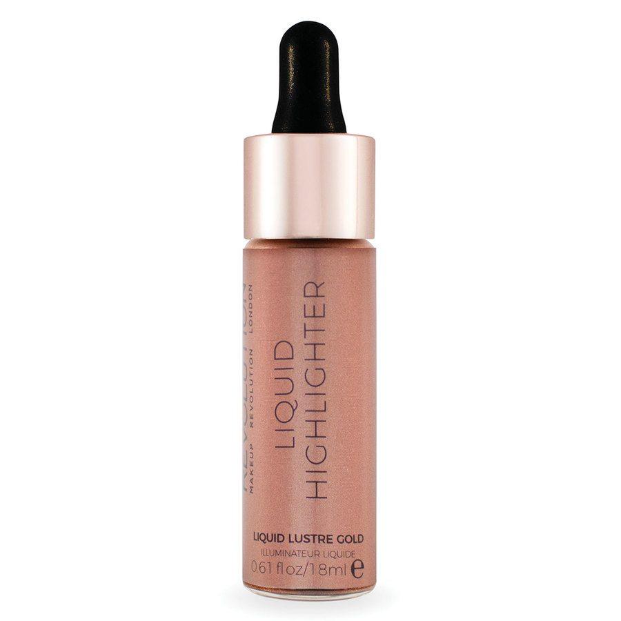 Makeup Revolution Liquid Highlighter Liquid Lustre Gold 18ml